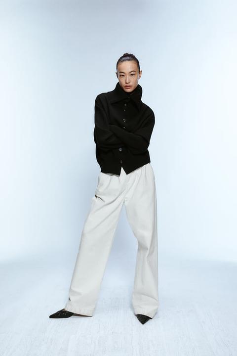 miglior servizio 8271d c478a Jeans Zw Premium Worker Palazzo White from Zara on 21 Buttons