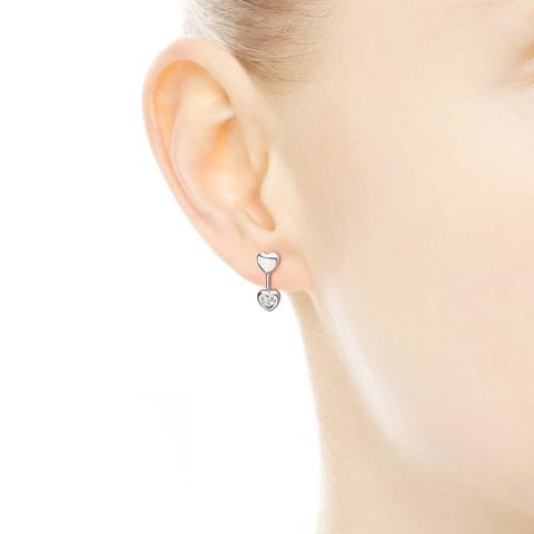orecchini due cuori pandora