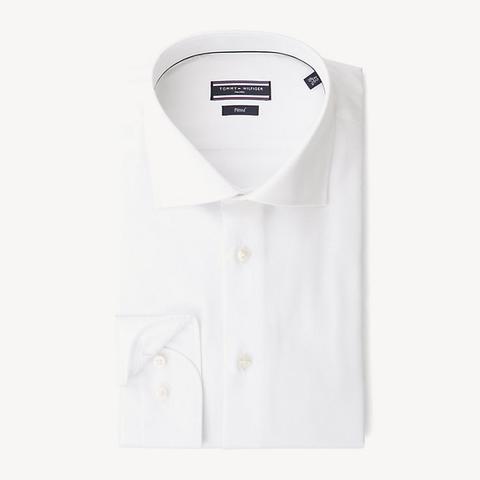 Camisa Entallada De Puro Algodón de Tommy Hilfiger en 21 Buttons