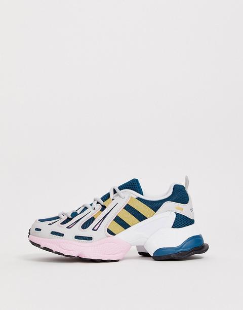Zapatillas En Azul Marino Y Rosa Eqt Gazelle De Adidas Originals de ASOS en 21 Buttons