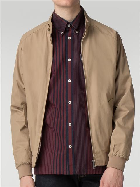 Beige Harrington Jacket from Ben Sherman on 21 Buttons