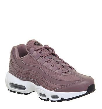 sports shoes 2e6e0 db254 Nike Air Max 95 Smokey Mauve White Black F de Office en 21 Buttons