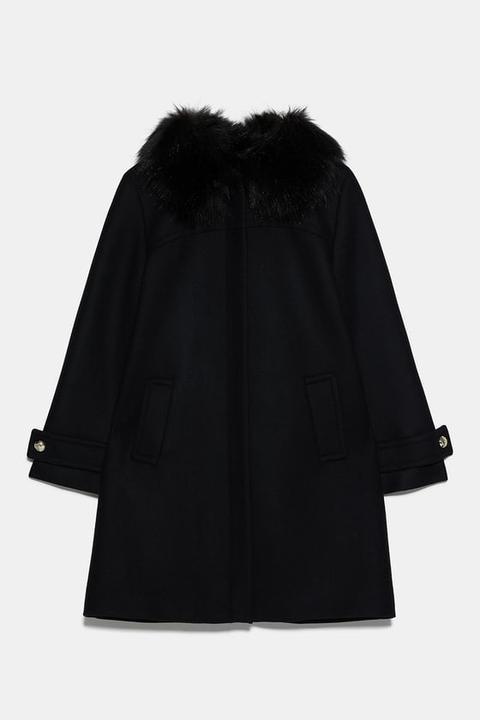Abrigo Efecto Pelo de Zara en 21 Buttons