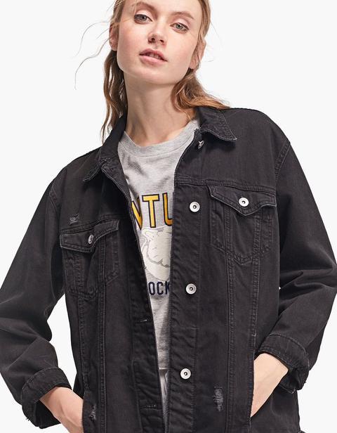 Giubbotto Jeans Oversize Nero