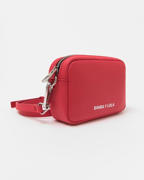 Bolso Bandolera Piel Rojo
