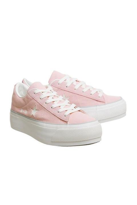 Star Low Platform Trainers - Pink, Pink