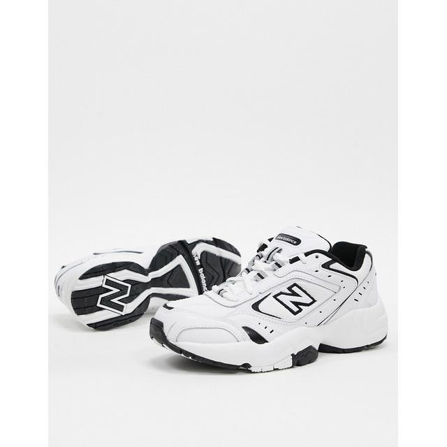 new balance white trainers