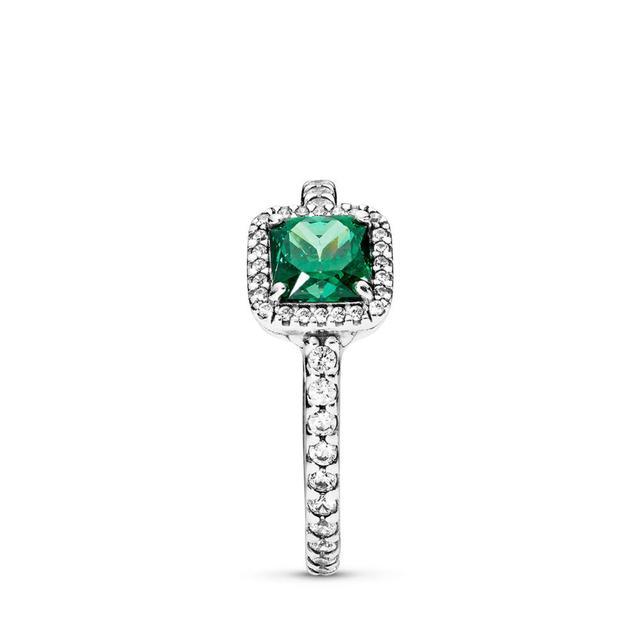 anello pandora con pietra verde