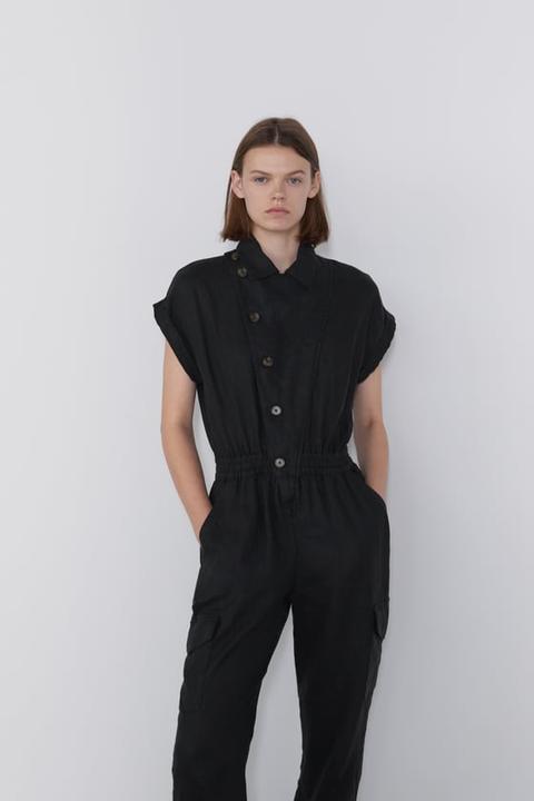 venta al por mayor nueva selección nuevo estilo Mono Volantes Lino - Monos-mujer   Zara España from Zara on ...