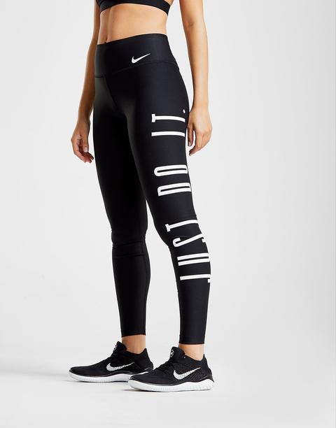 nike leggings just do it black
