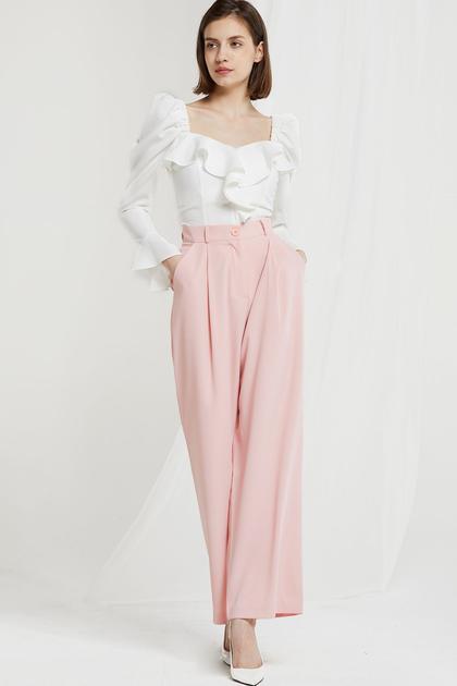 Chelsia Wide Leg Pants-2 Colors de Storets en 21 Buttons