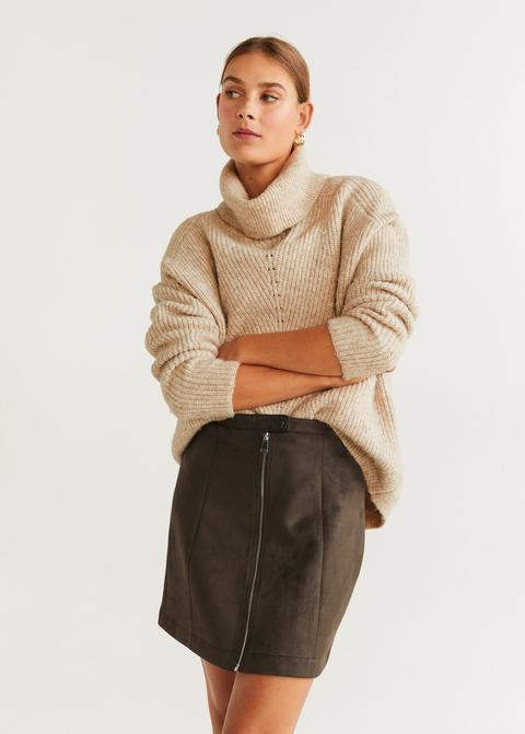 Minifalda Cremallera