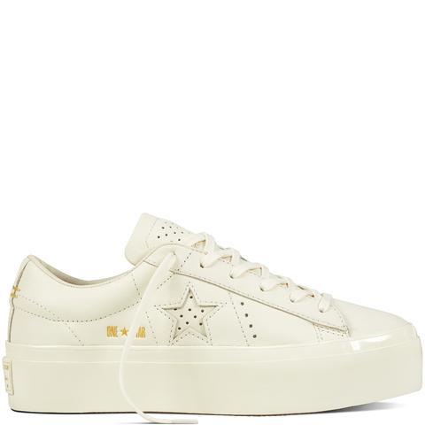 converse platform leather white