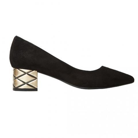 Stiletto Valeria Ante Negro 4cm de Mas34 Shop en 21 Buttons