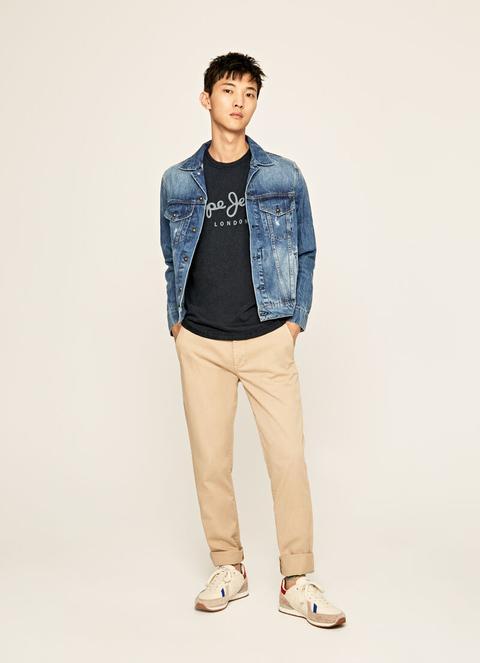 Camiseta Básica Logo Essential Denim Tee de Pepe Jeans en 21 Buttons