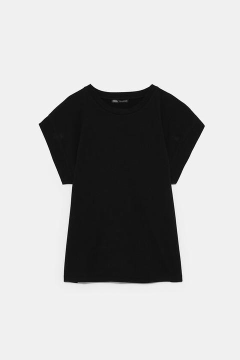 Maglietta Basic Con Maniche Ampie