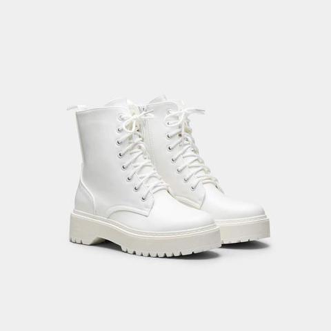 Ikki White Combat Boots from Koi
