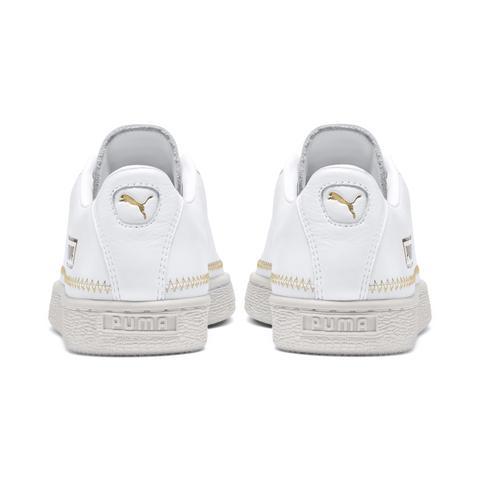 begrenzter Preis Schnäppchen für Mode vollständig in den Spezifikationen Basket Trim Metallic Damen Sneaker from Puma on 21 Buttons