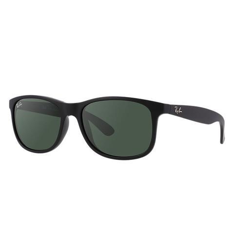Andy Unisex Sunglasses Lentes: Verde, Montura: Negro de Ray-Ban en 21 Buttons
