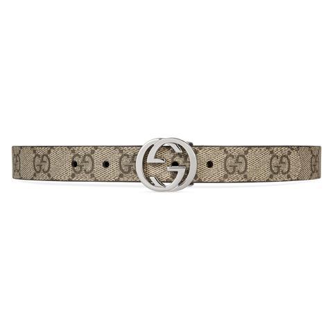 Cinturón Infantil Gg Supreme de Gucci en 21 Buttons
