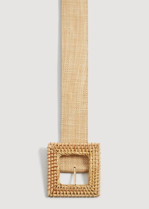 Cinturón Hebilla Rafia
