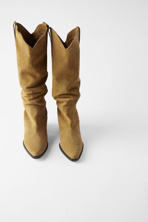 Bota Tacón Cowboy Serraje