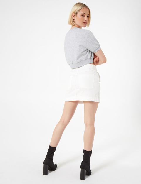 design di qualità 3b6d0 6ade2 Gonna Di Jeans Bianca Con Zip from Jennyfer on 21 Buttons