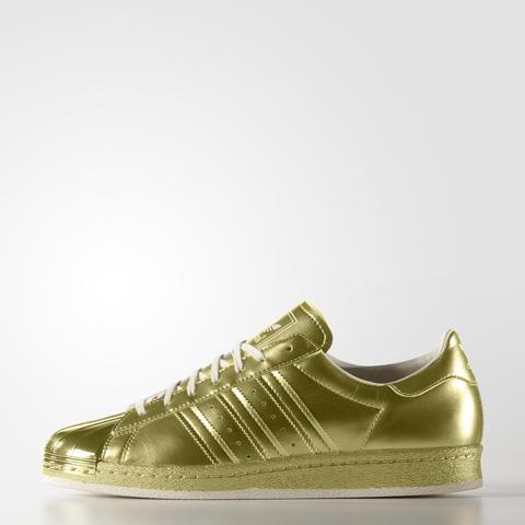 adidas superstar metallic oro