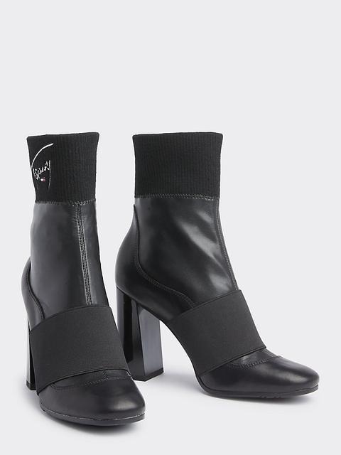 Botas De Tacón Y Corte Estilo Calcetín