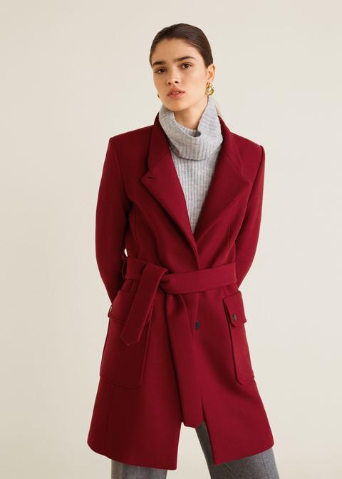 completo en especificaciones amplia selección de colores y diseños lujo Abrigo Lana Cinturón from Mango on 21 Buttons