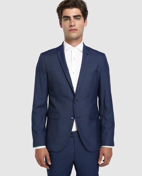Fórmula Joven - Chaqueta De Traje De Hombre Slim Azul de El Corte Ingles en 21 Buttons