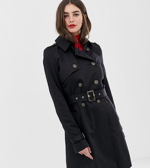 Gabardina De Asos Design Tall-negro de ASOS en 21 Buttons