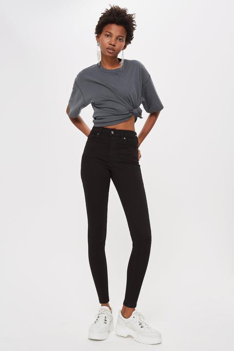Womens Black Jamie Skinny Jeans - Black, Black