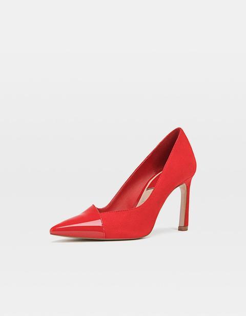 Fin From Rouge Vernie Chaussures Finition À Talon Rouges j5AL4R