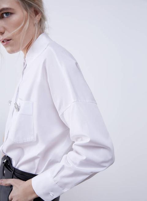 Camisa Botón Joya de Uterqüe en 21 Buttons