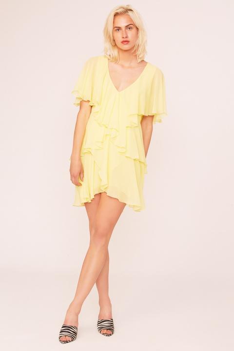 Vestido Mini Fluido. Modelo Fly Amarillo de Etxart & Panno en 21 Buttons