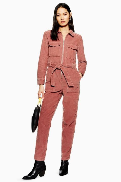 Petite Pink Corduroy Boiler Suit de Topshop en 21 Buttons