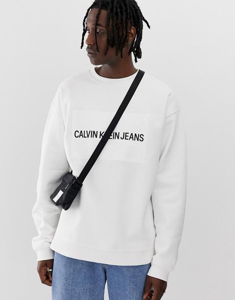 Sudadera Holgada Con Logo De Calvin Klein Jeans de ASOS en 21 Buttons