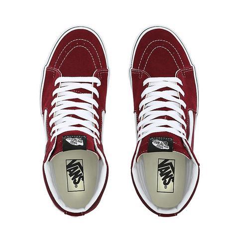 Vans Zapatillas Sk8-hi 2.0 Con Plataforma (burgundy/true White) Mujer Rojo