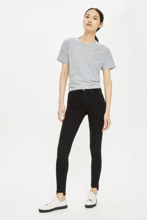 Black Stepped Hem Jamie Jeans de Topshop en 21 Buttons