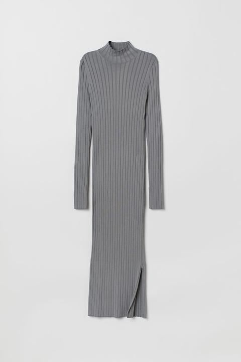 Vestido De Canalé - Gris