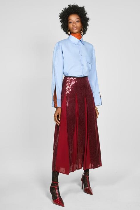 Falda Lentejuelas de Zara en 21 Buttons