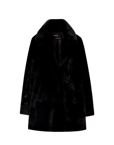 Abrigo Clásico Pelo Negro