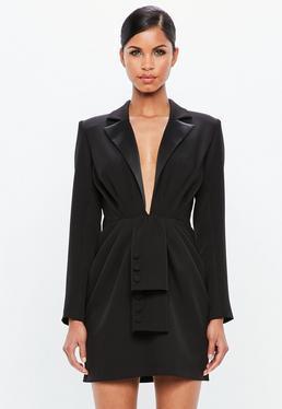 Peace + Love Vestido Blazer En Negro de Missguided en 21 Buttons