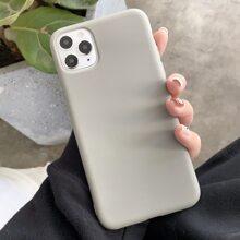 1 Pieza Funda De Iphone Unicolor
