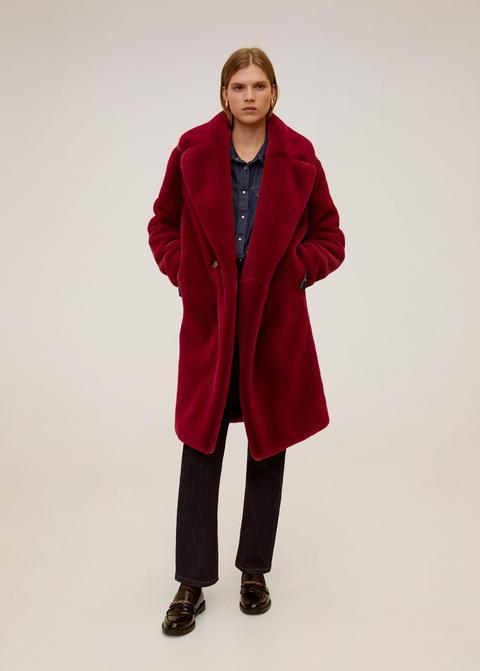 Maxi Lapels Faux-fur Coat