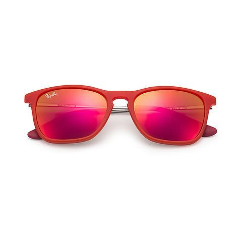Chris Junior Unisex Sunglasses Lentes: Rojo, Montura: Gunmetal