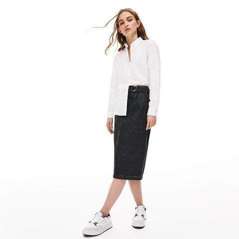 Camisa De Mujer Regular Fit En Algodón Oxford de Lacoste en 21 Buttons