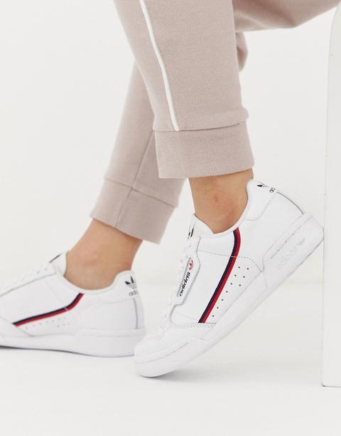 Zapatillas En Blanco Y Rojo Continental 80 De Adidas Originals de ASOS en 21 Buttons
