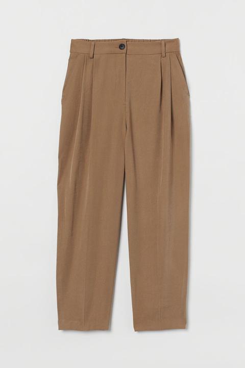 Pantalón De Vestir En Sarga - Beis